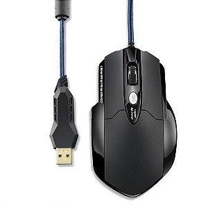 Mouse Usb Profissional 8 Botões Preto Mo191 Multilaser