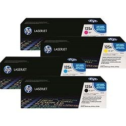 Kit Cartucho de Toner HP 125A 1 Preto + 3 Coloridos