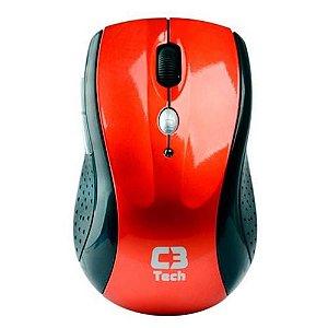 Mouse Sem Fio C3 Tech M-W012 Vermelho
