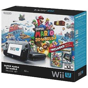Console Nintendo Wii U 32GB Deluxe + Mario 3D World + Nintendo Land