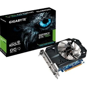 Placa de Vídeo Gigabyte GTX 750 Ti - 1GB OC DDR5 2DVI / 2 HDMI GV-N75TOC 1GI