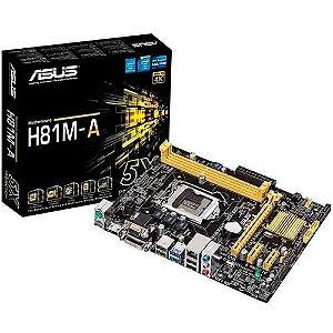 Placa Mãe Asus H81M-A/BR - Intel LGA 1150