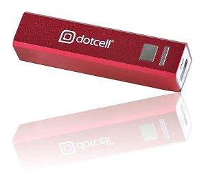 Power Bank Dotcell Bateria Portátil 2600mAh DC-PB262 Vermelho