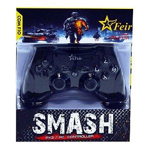 Controle Feir Smash PS3 PC com fio FR-218A - Preto