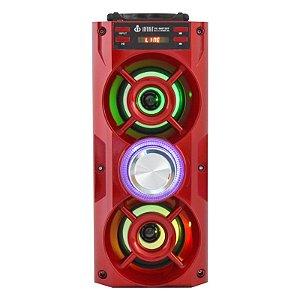 Caixa de Som Bluetooth USB/SD Infokit Voxcube VC-M872BT - Vermelho