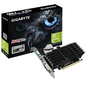 Placa de Vídeo VGA GigaByte GT 710 2GB GV-N710SL-2GL