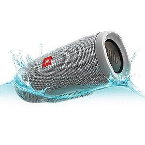 Caixa de Som Bluetooth JBL Charge 3 Cinza