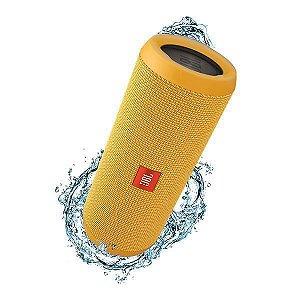 Caixa de Som Bluetooth JBL FLIP3 Amarela 16W RMS Amplificada 2X8W