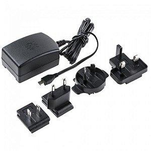 Fonte DC 5V 3A micro USB Raspberry Pi