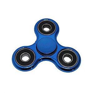 Fidget Hand Spinner Toy Anti Stress e Ansiedade - Azul Metalizado