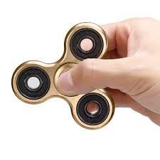 Fidget Hand Spinner Toy Anti Stress e Ansiedade - Dourado Metalizado