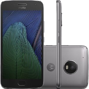 "Smartphone Moto G5 Plus XT1683 Dual Chip Android 7.0 Tela 5.2"" 32GB 4G Câmera 12MP - Platinum"