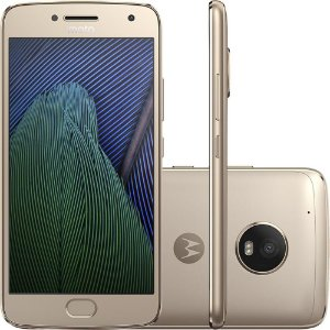 "Smartphone Moto G5 Plus XT1683 Dual Chip Android 7.0 Tela 5.2"" 32GB 4G Câmera 12MP - Ouro"
