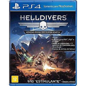 JOGO HELLDIVERS EDIÇÃO FINAL DO SUPER-EARTH - PS4