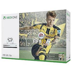 Console Xbox One S 500GB Microsoft + Jogo Fifa 17
