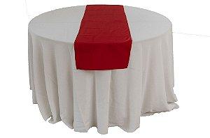 Caminho de mesa liso laranja vermelho