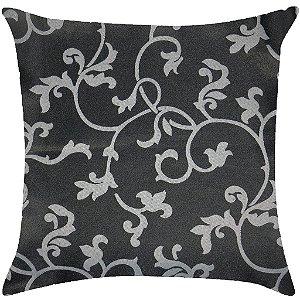Almofada arabesco preto e prata