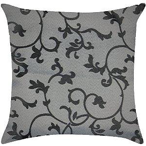Almofada arabesco prata e preto