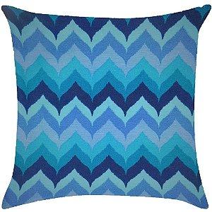 Almofada zig-zag tons de azul