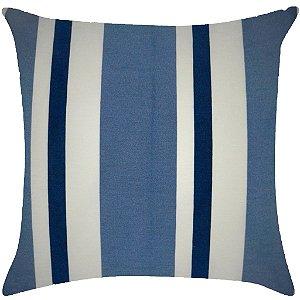 Listrado azul marinho com azul hortência
