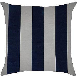 Almofada listrada azul marinho