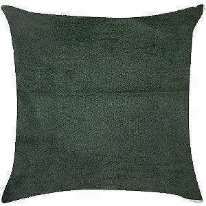 Almofada Lisa verde escuro estonada