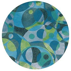 Souplat Geométrico azul e verde