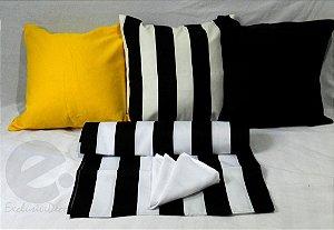 Conjunto Listrado Preto e Branco