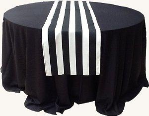Caminho de mesa preto e branco