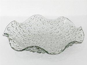 Prato vidro bolhas