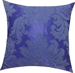 Almofada Adamascada Azul Royal