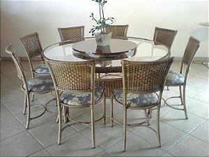 Conjunto de Mesa Redonda c/ Cadeiras Choperia