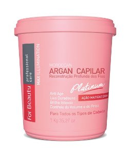 FOR BEAUTY ARGAN CAPILAR PLATINUM MAX ILLUMINATION 1Kg