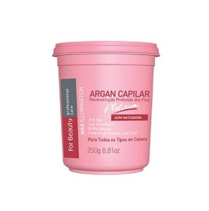 FOR BEAUTY  MINI ARGAN CAPILAR PLATINUM MAX ILLUMINATION  250g
