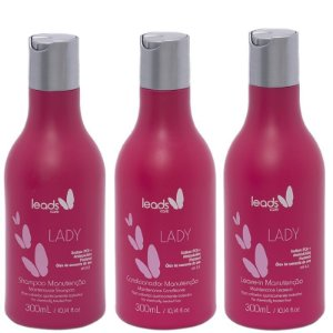 LEADS LADY SHAMPOO 300ml / CONDICIONADOR 300ml / LEAVE-IN 300ml