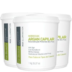 FOR BEAUTY ARGAN CAPILAR MAX ILLUMINATION 1kg 3 UNIDADES
