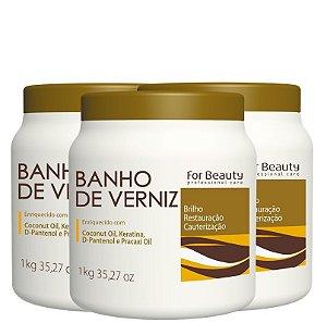FOR BEAUTY BANHO DE VERNIZ 1kg 3 UNIDADES