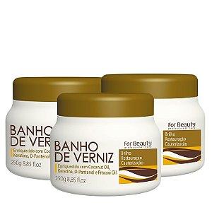 FOR BEAUTY BANHO DE VERNIZ 250g  3 UNIDADES