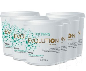 FOR BEAUTY EVOLUTION ANTI DESBOTAMENTO MASQUE 1 kg  6 UNIDADES