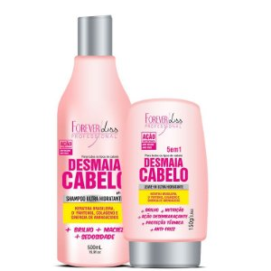 FOREVER LISS  DESMAIA CABELO SHAMPOO 500ml  LEAVE-IN 5em1 150g