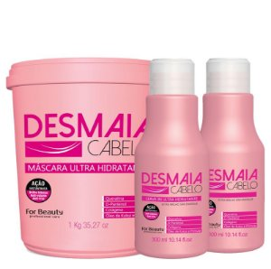 FOR BEAUTY KIT DESMAIA CABELO SHAMPOO 300ml / LEAVE IN 300ml / MÁSCARA 1kg