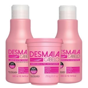 FOR BEAUTY KIT DESMAIA CABELO SHAMPOO 300ml / LEAVE IN 300ml / MÁSCARA 250g