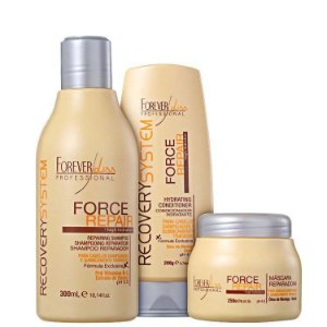 FOREVER LISS  KIT REC. FORCE REPAIR  MÁSCARA 250g / SHAMPOO 300ml / CONDICIONADOR 250g