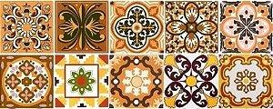 Kit Azulejos Rustico - Com 20 peças de azulejos 15,4 x 15,4 cm