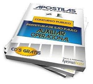 Apostilas Concurso Público - Prefeitura de São Paulo - Auxiliar Operacional