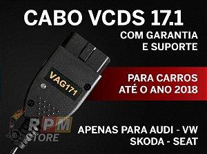 Cabo e Programa Scanner VAG-COM VCDS 17.1