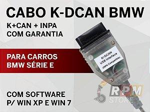 Cabo Scanner BMW série E K-DCAN + INPA