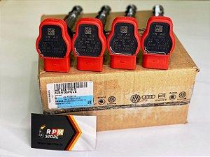 KIT 4 Bobinas Vermelhas R8 Genuinas Audi A3, A4, Jetta, Passat 06E905115G