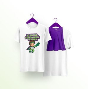 Combo: Camiseta infantil Super Fibra + máscara infantil Super Fibra