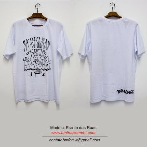Camiseta Escrita das Ruas - branca